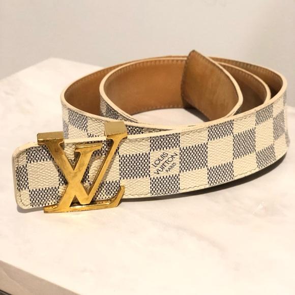 1cb09c922b7c Louis Vuitton Accessories - Louis Vuitton Damier Azur Belt
